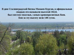 В дни Сталинградской битвы Мамаев Курган, в официальных сводках его называли