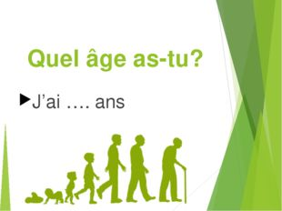 Quel âge as-tu? J'ai …. ans