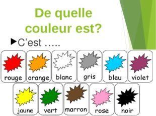 De quelle couleur est? C'est …..