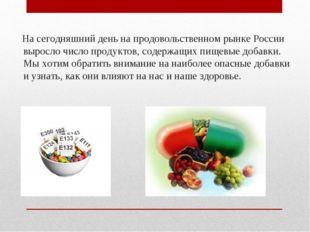 На сегодняшний день на продовольственном рынке России выросло число продукто