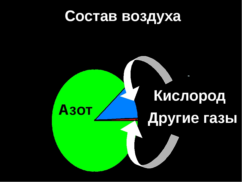 Состав воздуха Азот Кислород Другие газы