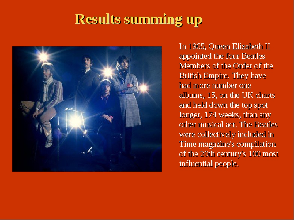 In 1965, Queen Elizabeth II appointed the four Beatles Members of the Order o...