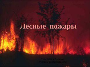 Лесные пожары Урок ОБЖ в 7 классе. Учитель: Быстрякова И.Ю. *