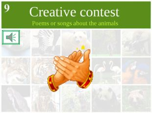 Creative contest Poems or songs about the animals