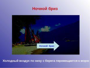 Ночной бриз Ночной бриз Холодный воздух по низу с берега перемещается к морю