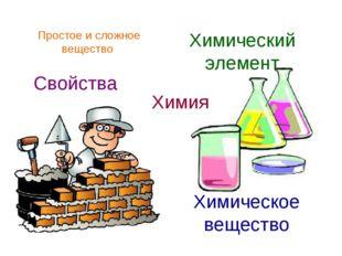 Химия Химическое вещество Химический элемент Свойства Простое и сложное вещес