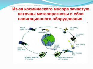 Из-за космического мусора зачастую неточны метеопрогнозы и сбои навигационног