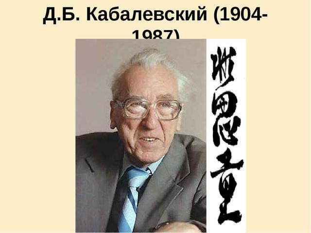 Д.Б. Кабалевский (1904-1987)