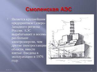 Является крупнейшим предприятием Северо-Западного региона России. АЭС вырабат