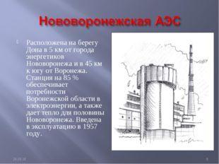 Расположена на берегу Дона в 5 км от города энергетиков Нововоронежа и в 45 к