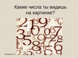 Литвиненко Т.А. Какие числа ты видишь на картинке?