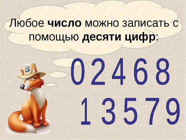 Литвиненко Т.А. Любое число можно записать с помощью десяти цифр: