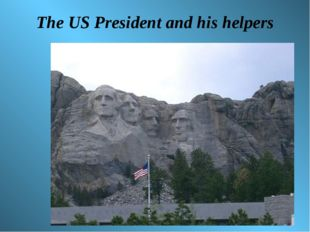 The US President and his helpers