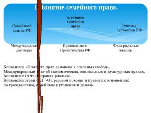 1.Понятие семейного права. источники семейного права Семейный кодекс РФ Федер
