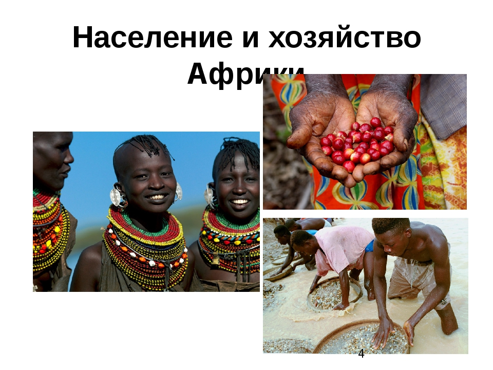 Население и хозяйство Африки