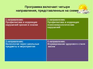 Программа включает четыре направления, представленные на схеме: 1 направление