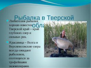 Рыбалка в Тверской области Любителям рыбалки хорошо известен Тверской край –