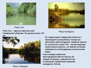 Река Сок Река Кондурча Река Самарка Река Самаранаиболее многоводный приток В
