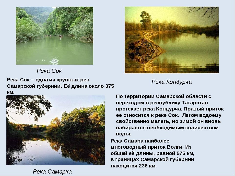 Река Сок Река Кондурча Река Самарка Река Самаранаиболее многоводный приток В...