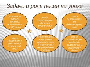 Задачи и роль песен на уроке устранить рутину занятий, монотонность обучения