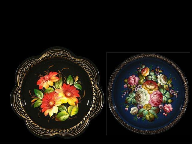 Основной мотив жостовской росписи – цветочный букет. В самобытном искусстве...