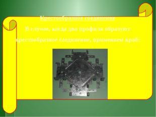 Крестообразное соединение В случае, когда два профиля образуют крестообразно