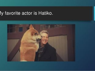 My favorite actor is Hatiko.