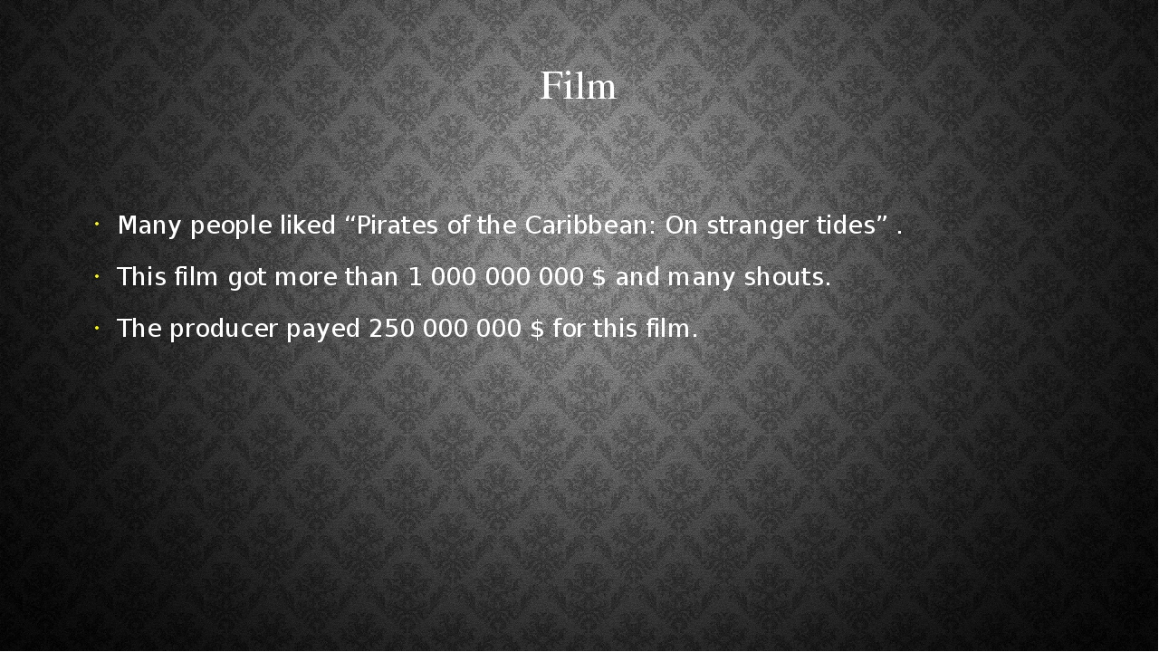 "Film Many people liked ""Pirates of the Caribbean: On stranger tides"" . This f..."