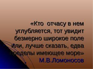 «Кто отчасу в нем углубляется, тот увидит безмерно широкое поле или, лучше ск