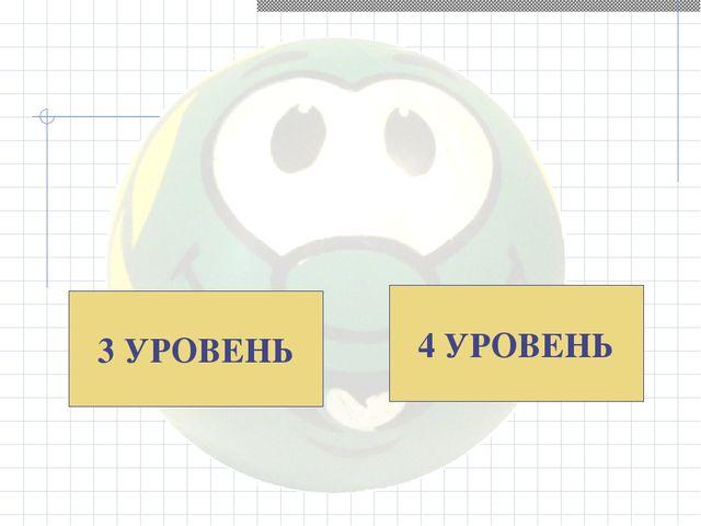 3 УРОВЕНЬ 4 УРОВЕНЬ