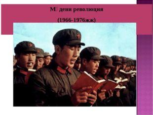 Мәдени революция (1966-1976жж)