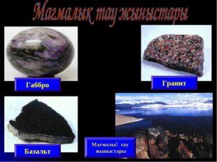 Габбро Базальт Гранит Магмалық тау жыныстары