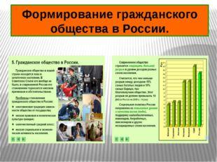 Формирование гражданского общества в России.