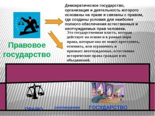 Демократическое государство, организация и деятельность которого основаны на