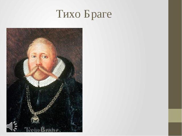 Тихо Браге Тихо Браге (дат. Tyge Ottesen Brahe (инф.), лат. Tycho Brahe; 14 д...
