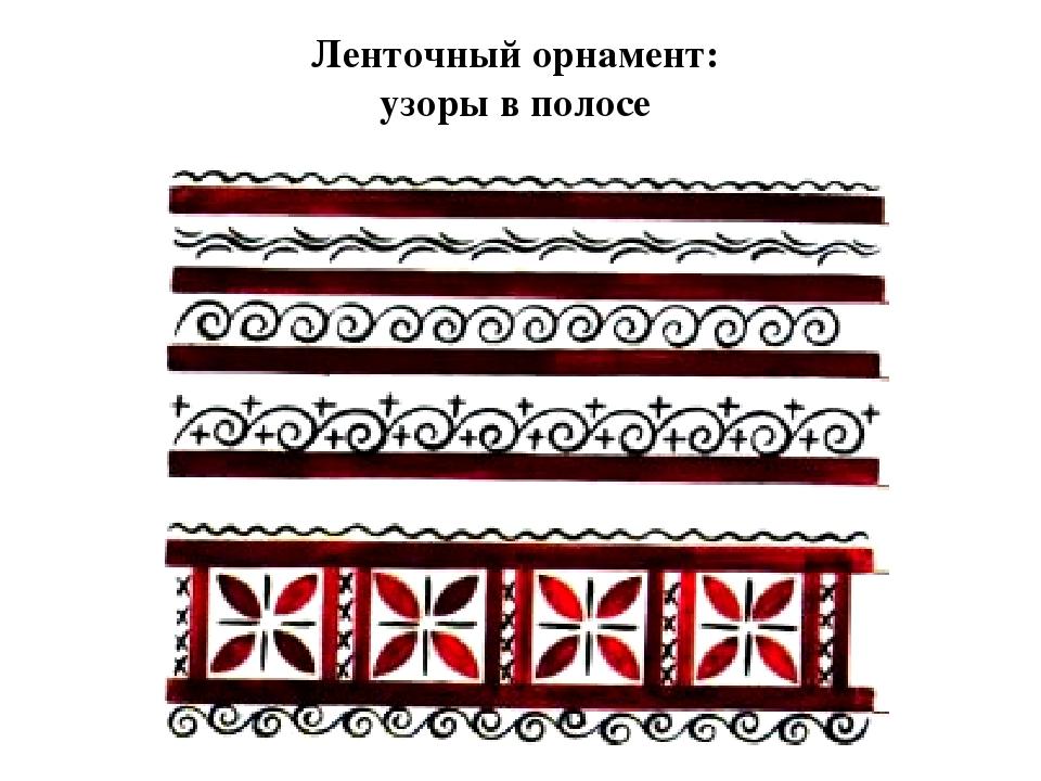 Ленточный орнамент: узоры в полосе