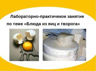 Лабораторно-практичекое занятие по теме «Блюда из яиц и творога»