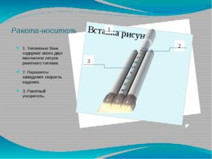 Ракета-носитель 1. Топливные баки содержат около двух миллионов литров ракетн