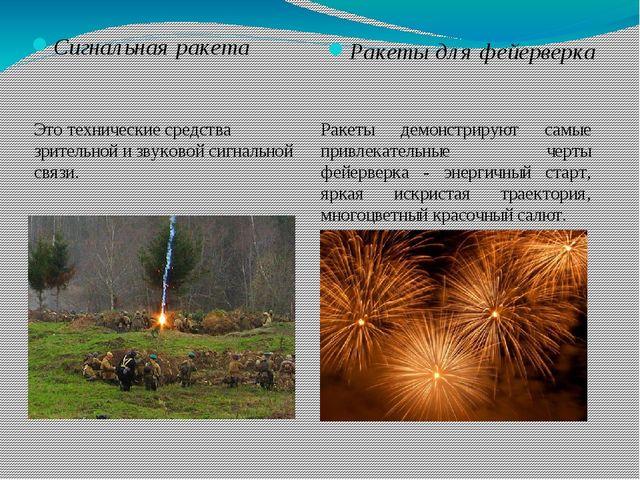 Сигнальная ракета Ракеты для фейерверка Это технические средства зрительной и...
