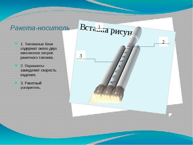 Ракета-носитель 1. Топливные баки содержат около двух миллионов литров ракетн...