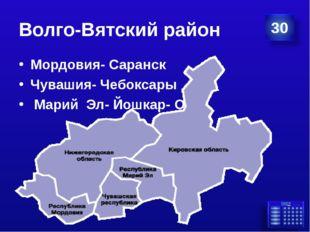 Волго-Вятский район Мордовия- Саранск Чувашия- Чебоксары Марий Эл- Йошкар- Ола