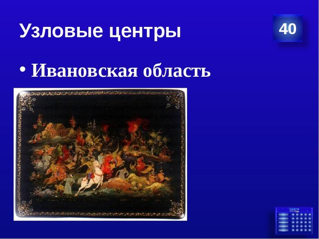Узловые центры Ивановская область