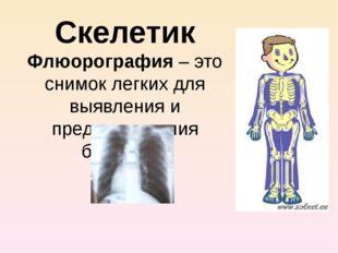 Скелетик Флюорография – это снимок легких для выявления и предупреждения боле