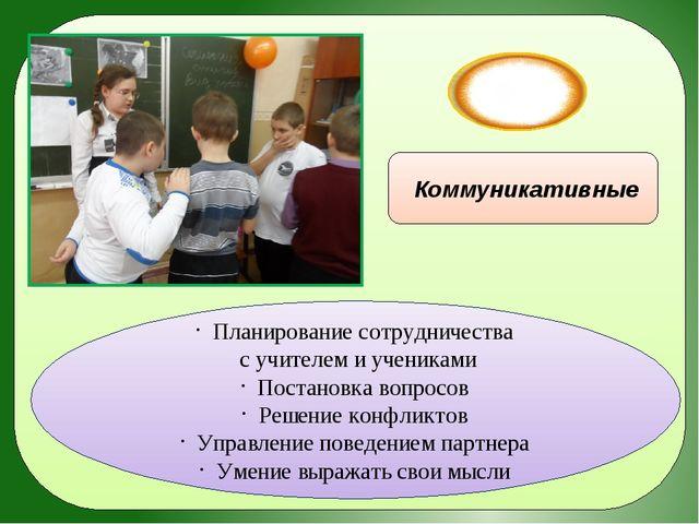 УУД Коммуникативные Планирование сотрудничества с учителем и учениками Поста...