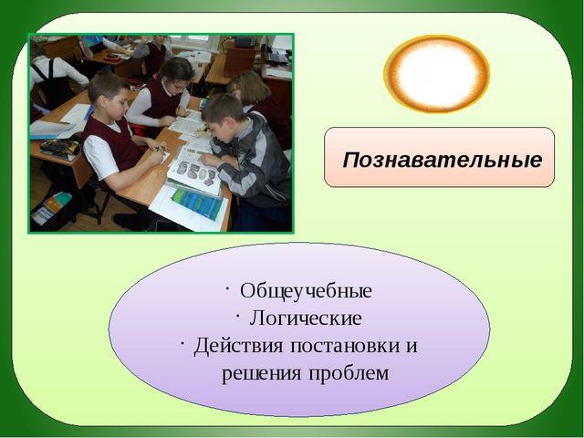 УУД Познавательные Общеучебные Логические Действия постановки и решения проб...