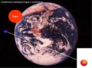 - Сравнение размеров ядра и электрона