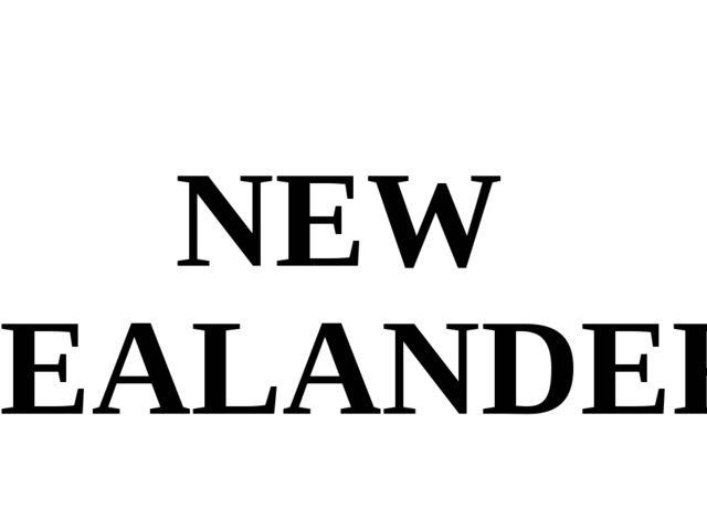 NEW ZEALANDER