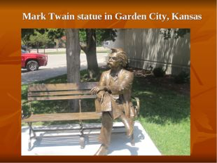 Mark Twain statue in Garden City, Kansas