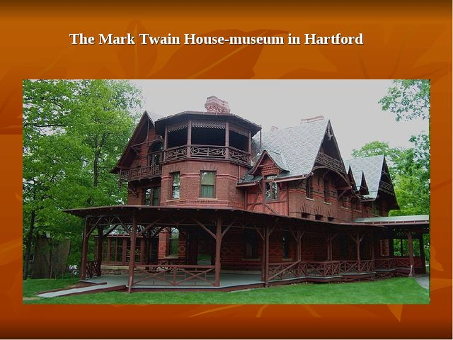 The Mark Twain House-museum in Hartford