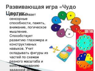 Игра развивает сенсорные способности, память, внимание, логическое мышление.